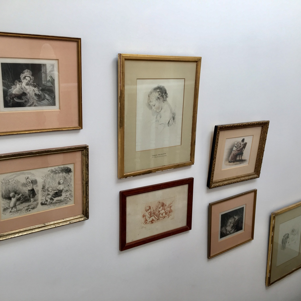 Old frames sourced in charities or antique shops can really dress up your walls or hallway.