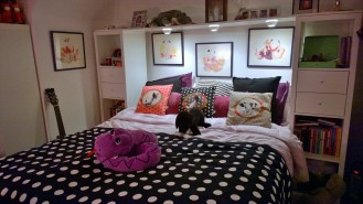 teen purple room make-over
