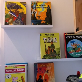 Teen comic book shelves idea