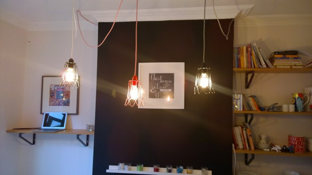Cage lights in kitchen - Belle & Cosy