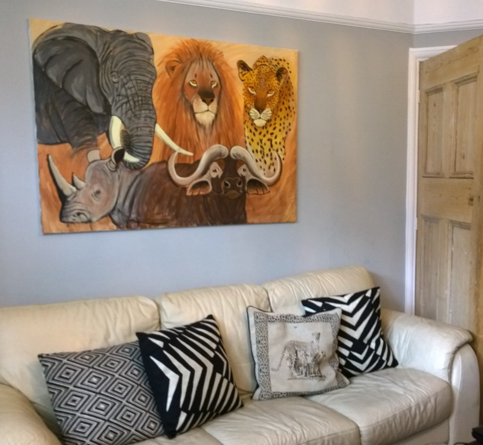 South African themed living room